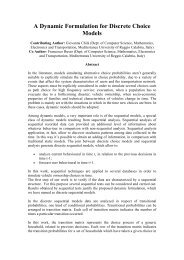 A Dynamic Formulation for Discrete Choice Models - Institute of ...