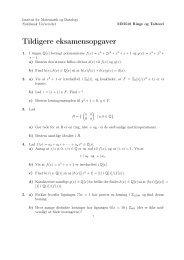 Tidligere eksamensspørgsmål. - Institut for Matematik og Datalogi ...