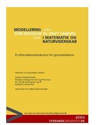 Modellering - Institut for Matematik og Datalogi - Syddansk Universitet