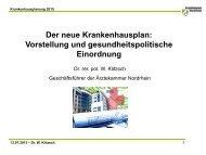 Der neue Krankenhausplan - Ärztekammer Nordrhein