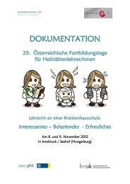Download Dokumentation 23. Fortbildungstage - cisOnline