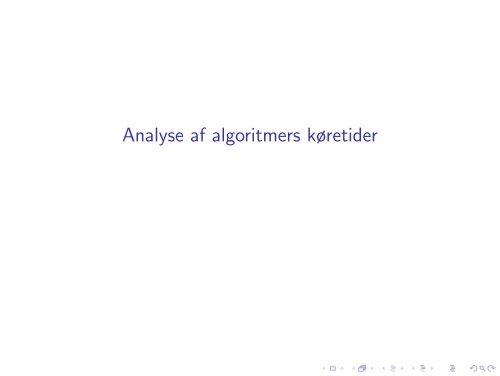 Slides om asymptotisk analyse
