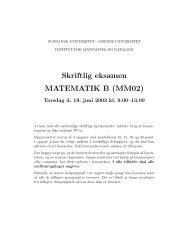 eksamensopgaver - Institut for Matematik og Datalogi - Syddansk ...