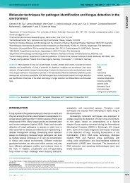 Molecular techniques for pathogen identification - IMA Fungus