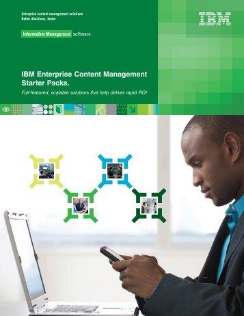 IBM Enterprise Content Management Starter Packs. - Guru Online