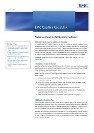 Data Sheet: EMC Captiva CodeLink - Image Access Corporation