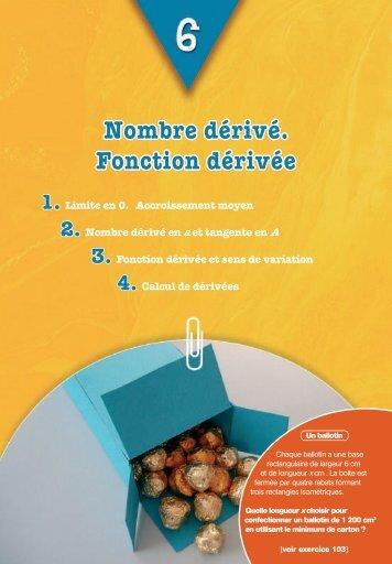 Nombre dérivé et fonction dérivée - Hachette