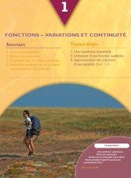 fonctions – variations et continuité - Hachette