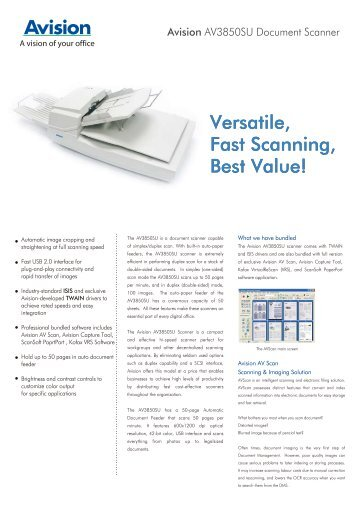 Versatile, Fast Scanning, Best Value!