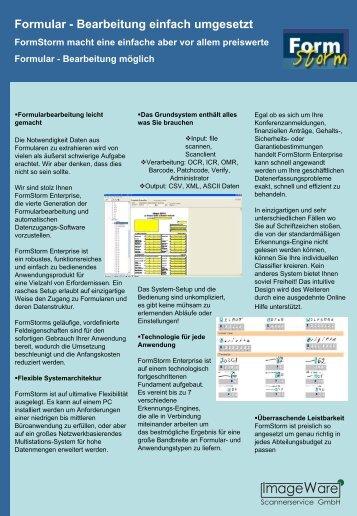 Formular - Bearbeitung einfach umgesetzt - ImageWare Austria GmbH