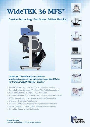 WideTEK 36 MFS* - ImageWare Austria GmbH