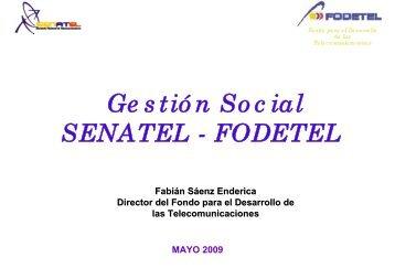 Gestión Social SENATEL - FODETEL - Imaginar