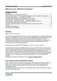 Informix Newsletter 04/2007 - The Informix Zone
