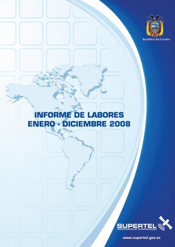 INFORME DE LABORES ENERO - DICIEMBRE 2008 - Imaginar