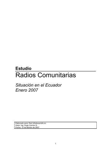 Situación de las Radios Comunitarias en el Ecuador - Imaginar