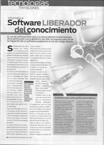 Software Libre, Revista Vanguardia - Imaginar