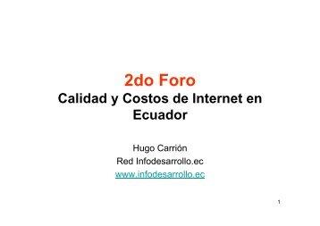 Calidad y Costos de Internet 2007 - Imaginar