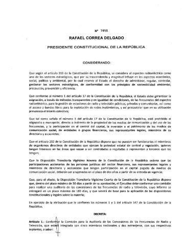RAFAEL CORREA DELGADO - Imaginar