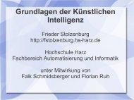 Intelligente Agenten - Frieder Stolzenburg - Hochschule Harz