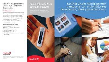 SanDisk Cruzer Mini le permite transportar con estilo ... - imaginArt
