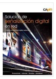 Catálogo Pdf Cartelería digital Cayin - imaginArt