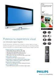 26PFL5522D/12 Philips televisor panorámico plano con ... - imaginArt