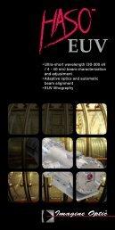 • Ultra-short wavelength (30-300 eV / 4 - 40 nm ... - Imagine Optic