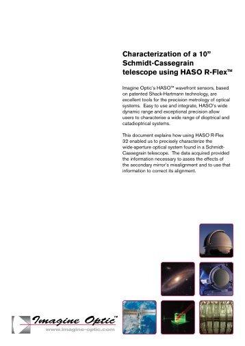 "Characterization of a 10"" Schmidt-Cassegrain ... - Imagine Optic"