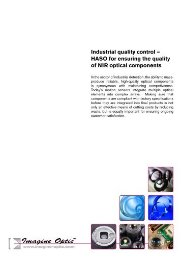 HASO for ensuring the quality of NIR optical ... - Imagine Optic