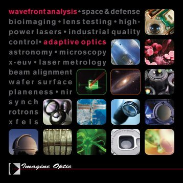wavefrontanalysis • space & defensebioimaging ... - Imagine Optic