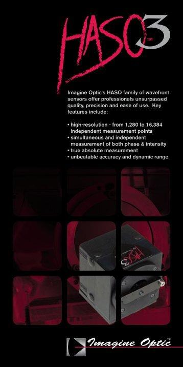 Imagine Optic's HASO family of wavefront sensors offer ...