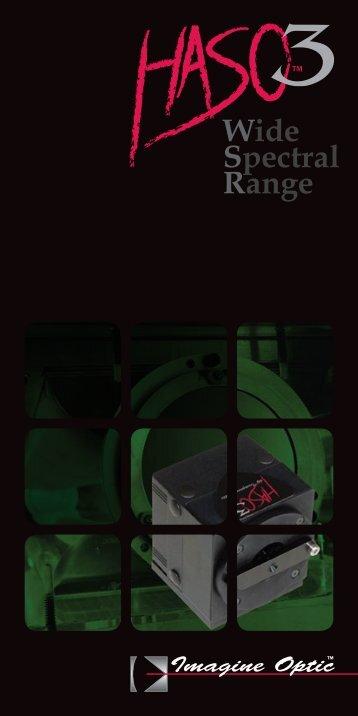 Wide Spectral Range - Imagine Optic