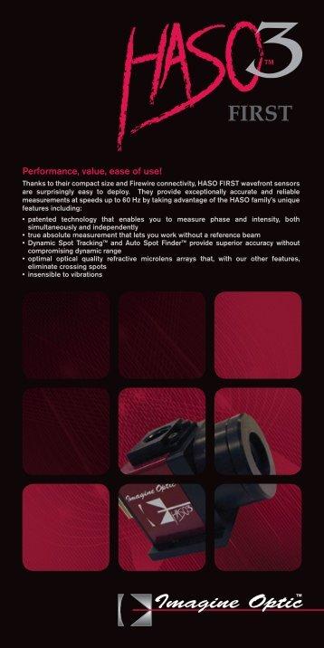 Performance, value, ease of use! - Imagine Optic