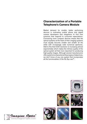 Characterization of a Portable Telephone's Camera ... - Imagine Optic