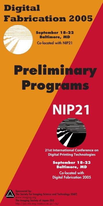 NIP21 DF2005 Prelim Program.qxd - Society for Imaging Science ...