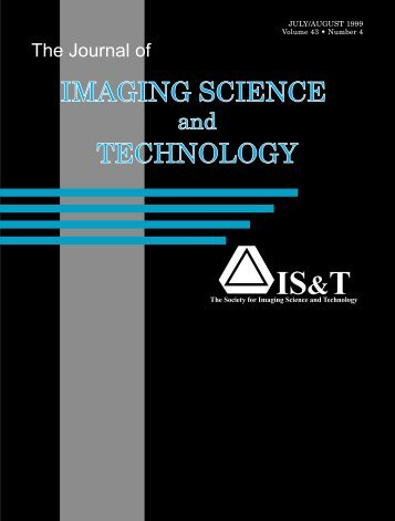 Additional Material, Journal of Imaging Science and Technology, Vol ...