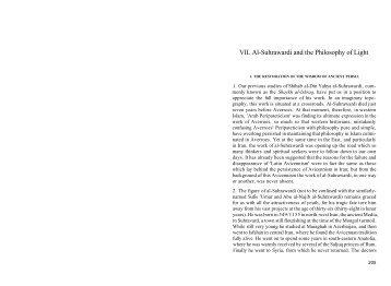 VII. Al-Suhrawardi and the Philosophy of Light - ImagoMundi