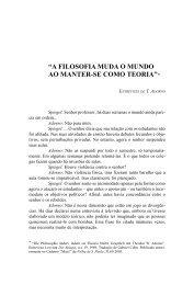 """""""A FILOSOFIA MUDA O MUNDO AO MANTER-SE COMO TEORIA""""*"""