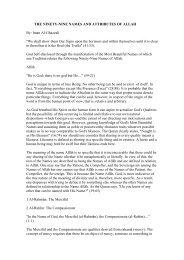 THE NINETY-NINE NAMES AND ATTRIBUTES OF ... - ImagoMundi