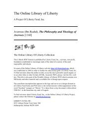 Online Library of Liberty: The Philosophy and ... - ImagoMundi
