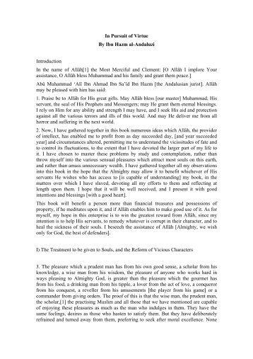 Al-Akhlāq wa'l-Siyar (Morals and Behaviour) - ImagoMundi