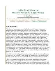 Hakīm Tirmidhī and the Malāmatī Movement in Early ... - ImagoMundi