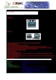 EOCR-3DD EOCR-FD • MCU( Mikroişlemci Kontrol ... - İmaj Teknik