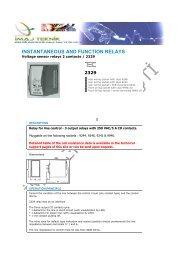 Voltage sensor relays 2 contacts / 2329 - Ä°maj Teknik