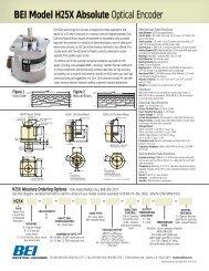BEI Model H25X Absolute Optical Encoder - Ä°maj Teknik