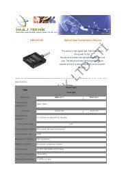 DMH-GC/HC Optical Data Transmission Devices - Ä°maj Teknik