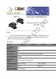 CWF-11/12 OPTICAL DATA TRANSMISSION DEVICE ... - Ä°maj Teknik