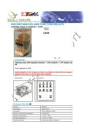 Latching relays 2 contacts / 1324 - Ä°maj Teknik
