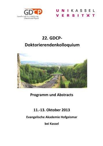 2013-10-02 Abstractband - Universität Kassel