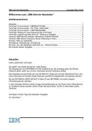 Informix Newsletter 03/2008 - The Informix Zone